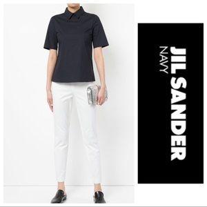 JIL SANDER SKINNY WHITE ANKLE PANT size 0